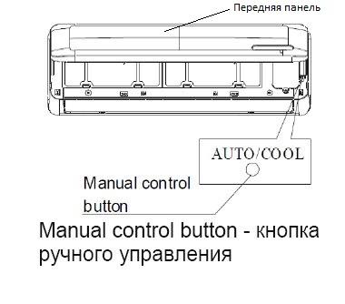 Кнопка управления кондиционера без пульта